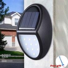 Solar Energy 10LED Garden Fence Lamp Corridor Wall Lamp Induction Lamp solar light Home Decoration Black ABS Outdoor Led Light