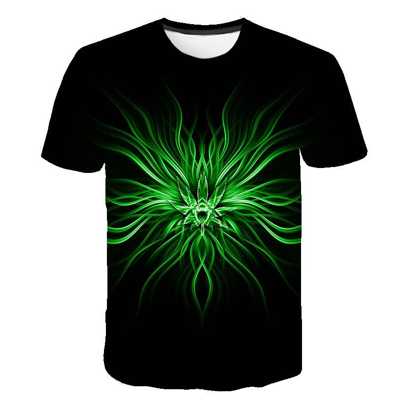 2021 Color T Shirt Men Hip Hop O Neck Male Short Sleeve Tops Art Cool Street Black 3D Summer Size Pl