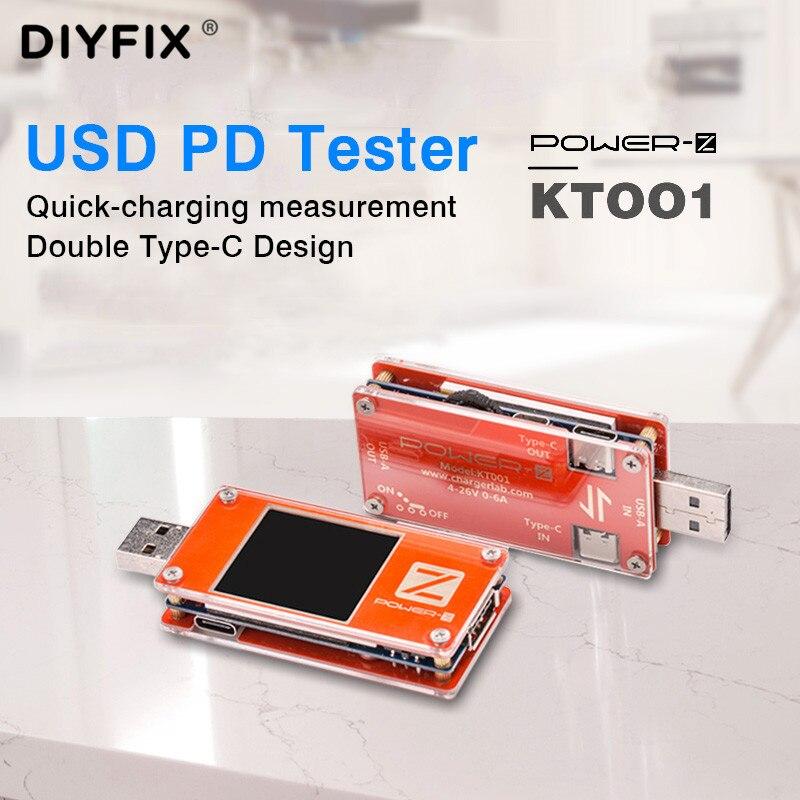 ChargerLAB POWER-Z KT001 PD тестер USB напряжение Curren PD Decoy инструмент KT001 Type-C Быстрая зарядка головка сетевой детектор