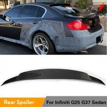 For Infiniti G37 4-Door BASE Sedan 2009 - 2013 G25 2011 - 2012 Carbon Fiber / FRP Unpainted Rear Trunk Boot Lip Spoiler Wing