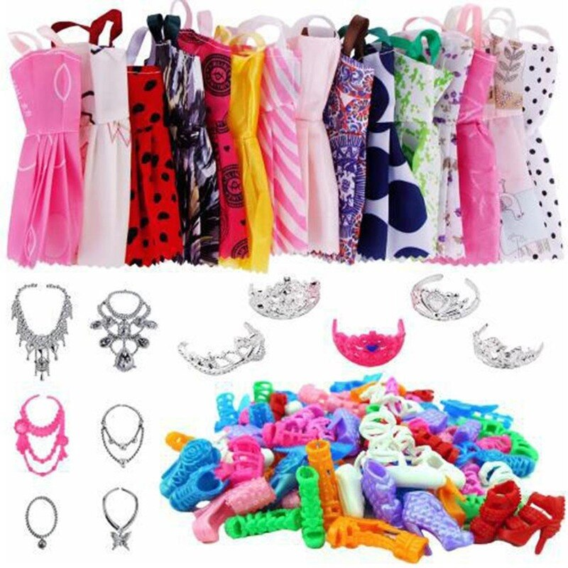 35 Pieces Of Clothes Accessories Doll Clothes Accessories 35 Pieces Of Clothes Accessories Shoes Dress Clothes For Barbie Doll cat wet food felix appetizing pieces of pauch for cats pieces in jelly lamb 24 85 g