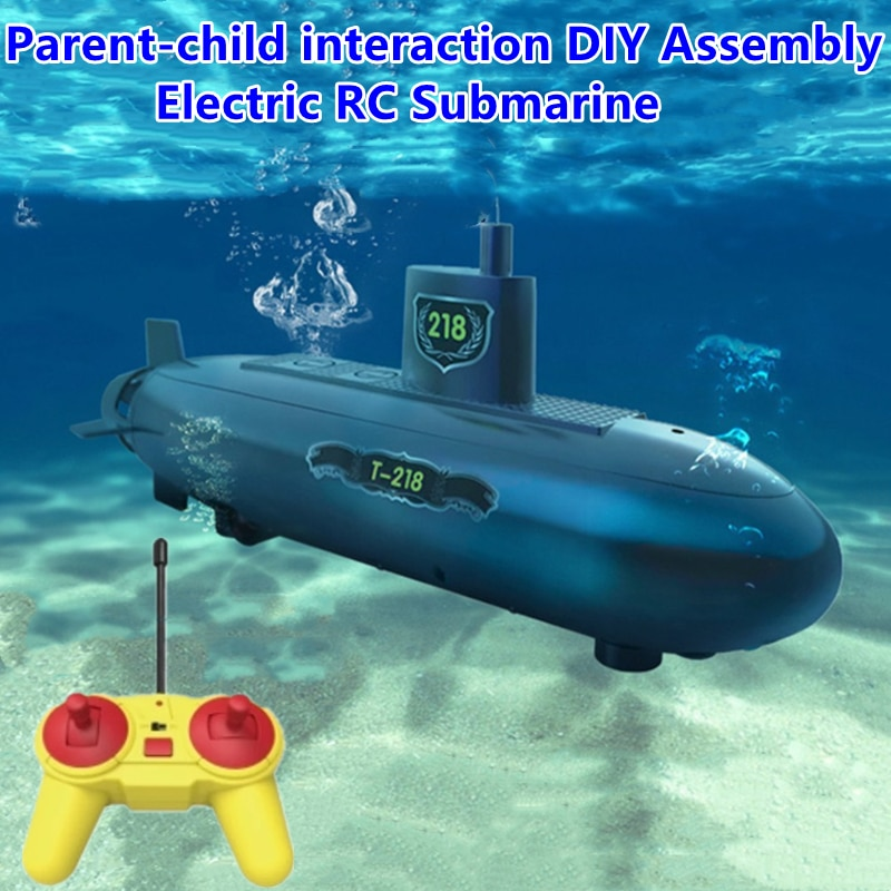 Parent-child Interaction DIY Assembly Electric RC Submarine Toy 30.5CM STEM Science Education Remote Control Submarine Boat Toy