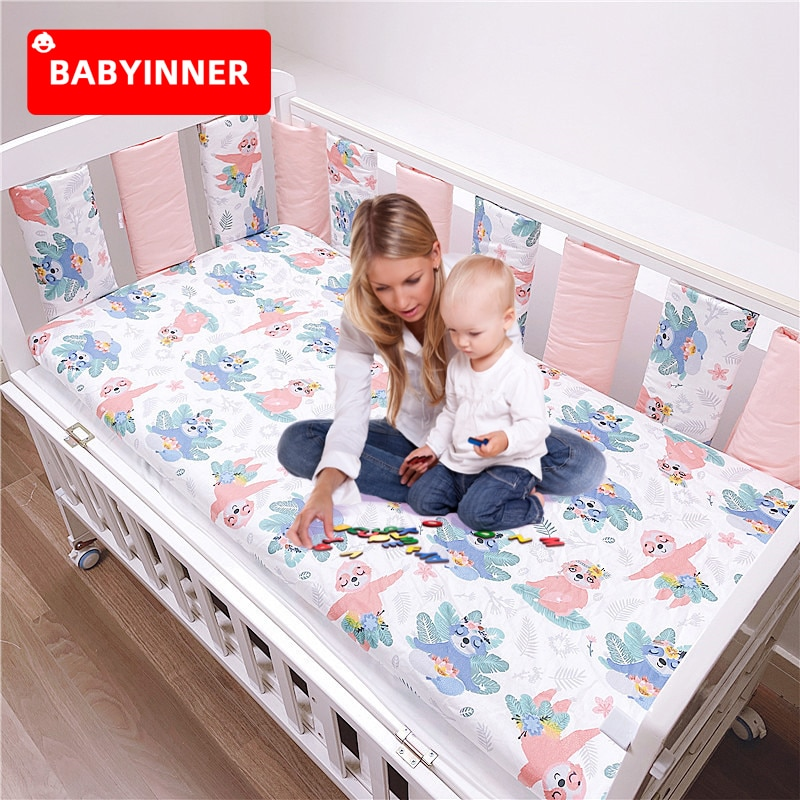 BABYINNER Baby Crib Bumper 10PCS/Set Newborn Cot Protect Anti-collision Infant Bed Bumpers Breathable Safety Guardrail Home