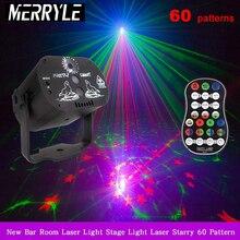 Lampe de Projection Laser RGB 5V USB   60 motifs, Recharge Laser RGB éclairage de scène, KTV DJ Dance Show, maison fête, lampadaire