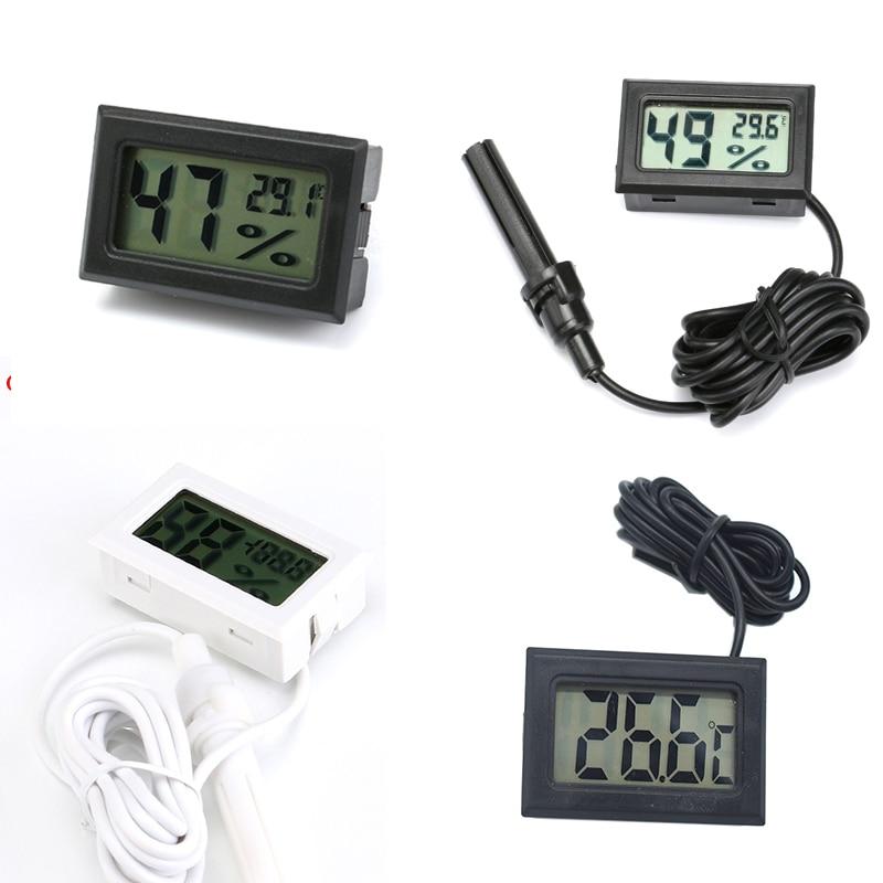 Mini Digital Humidity Meter Thermometer Hygrometer Sensor Gauge LCD Temperature Refrigerator Aquariu