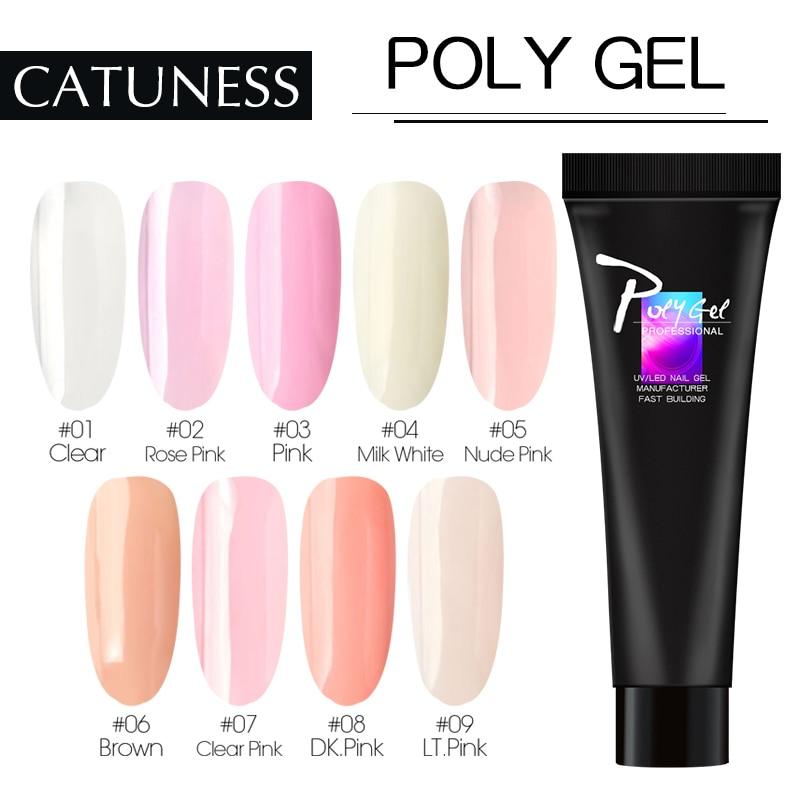 Kit de Consejos de construcción de CATUNESS Polygel de extensión rápida Kit de uñas de Gel de polietileno líquido de Arte de uñas UV LED