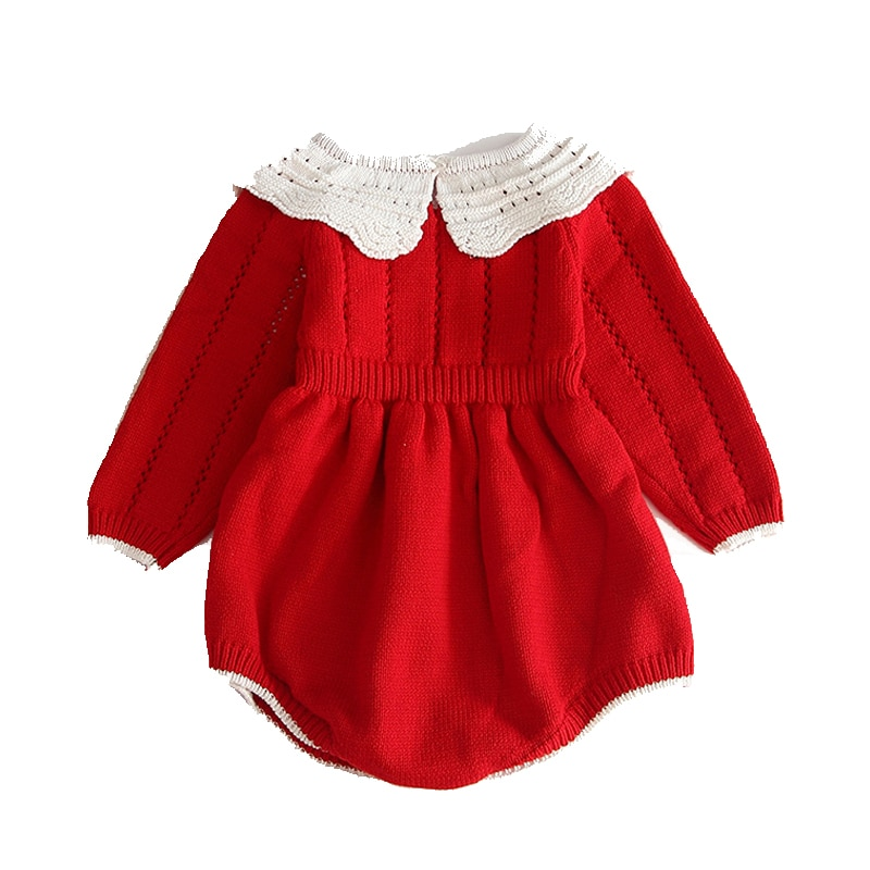 0-3 Years Old Baby Girl Romper Knitted Jumpsuit Crawl Clothes Child Autumn Winter Cotton Romper For Baby Girls Clothes