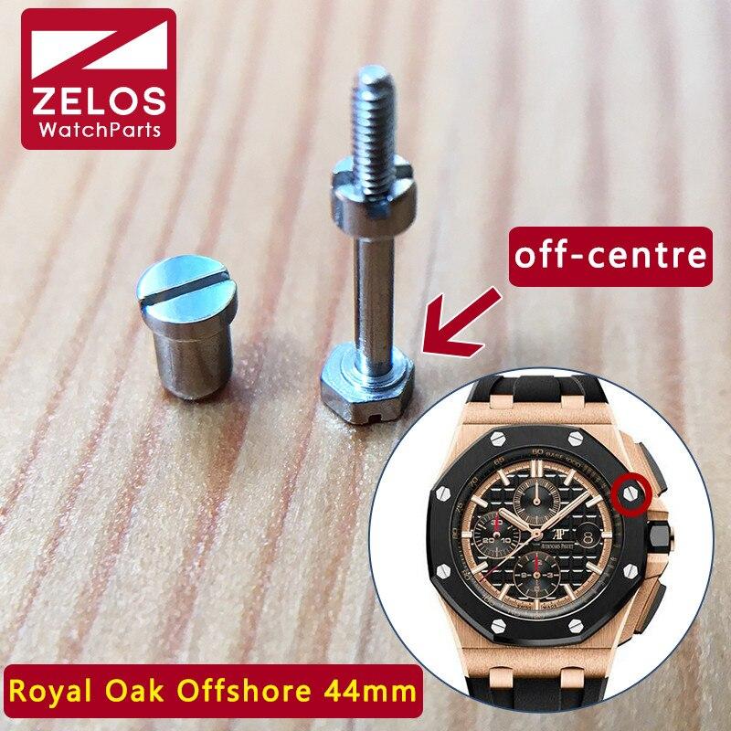 Zegarek ramki zestaw śrub do Audemars Piguet AP Royal Oak Offshore 44mm panda oryginalny bezel wkładka case powrót śruba 26400