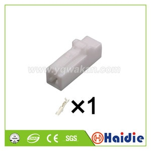 5sets 1pin White auto electric plastic plug  wiring harness cable unsealed connector 7283-1010