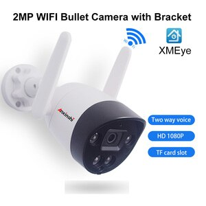 Wireless HD1080P WIFI IP Camera 2MP Two-Way Voice Night Vision IR Outdoor CCTV Video Surveillance Onvif XMEye P2P TF Card Slot