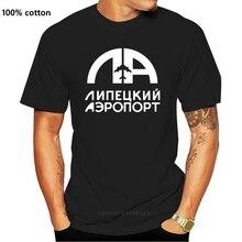 Lipetsk Flughafen Retro Logo Russische Flughafen T-Shirt