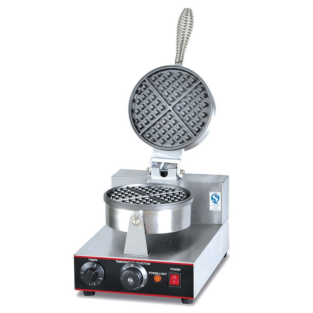 Snack Equipment Heating Single Head Waffle Electric Heating Waffle Machine up and Down Waffle Maker