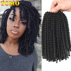 Short Ombre Hair Extension Spring Twist Crochet Braids 8Inch 30Strands Synthetic Braiding Hair Jamaica Bounce Fluffy Twist Bug