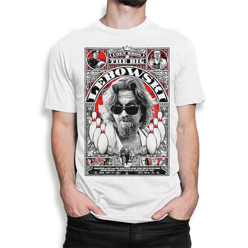 Camiseta de The Big Lebowski con puentes, para mujer de todos los tamaños para jóvenes de mediana edad, camiseta de marca para hombre