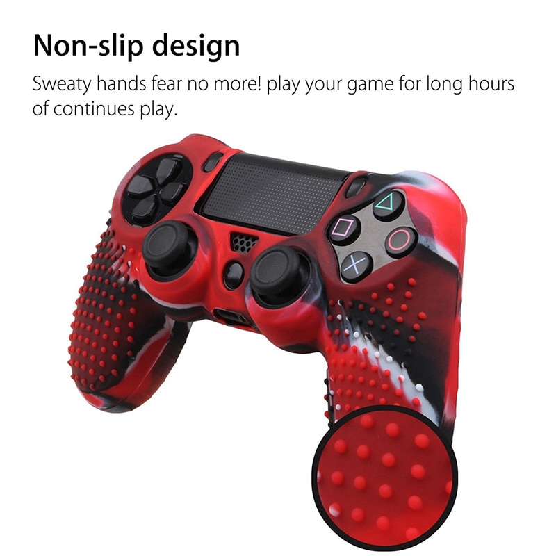 Anti Slip Silicone Protective Skin Case For Dualshock 4 PS4 DS4 Pro Slim Controller Cover Analog Grip