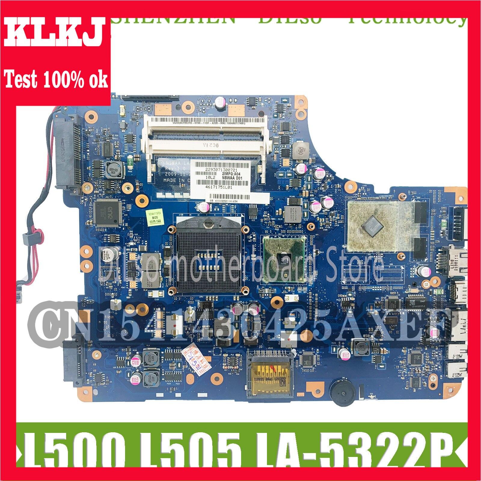 KLKJ LA-5322P اللوحة الرئيسية لتوتوشيبا الأقمار الصناعية L500 L505 اللوحة الأم K000092530 NSWAA LA-5322P HM55 HD4550 الأصلي اختبارها