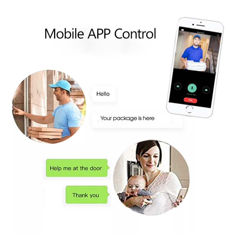 SmartHome Video Doorbell Peephole Doorbell Camera wifi 4.3 Inch  HD1080P Night PIR Wecsee tuya APP wireless call For IOS Andriod enlarge