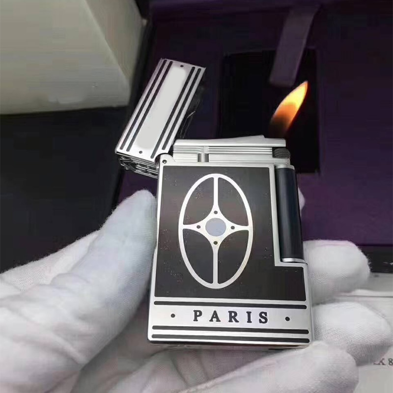 100% brand new retro lighter Seiko manufacture windproof copper body cigarette PING Bright Sound cigarette lighter enlarge