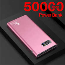 50000 мАч Power Bank ультра-тонкий портативный большой емкости цифровой дисплей зарядное устойство для улицы, аварийный источник питания для Iphone, ...