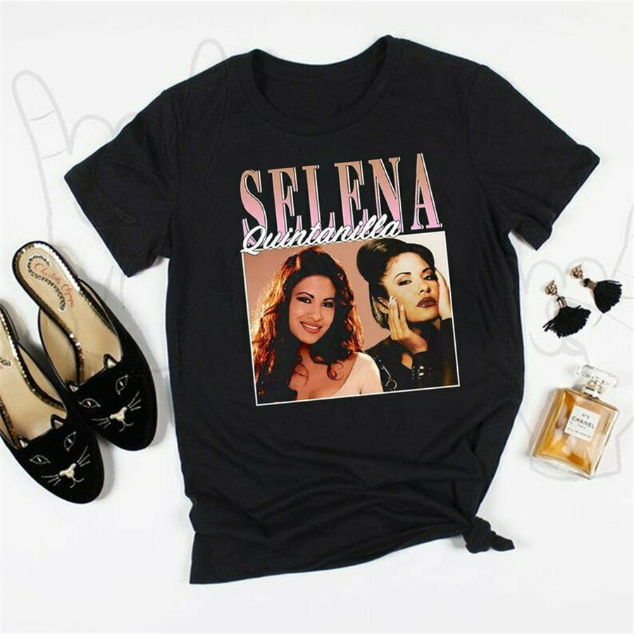 SELENA QUINTANILLA Tops camiseta Vintage 90s inspirado Tee, Selena Quintanilla Unisex, Camiseta estampada de talla grande