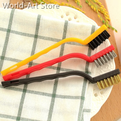 Japanese Gas Stove Cleaning Brush 3 Kitchen Supplies Kitchen Ventilator Stove Cleaning Tool Steel Wire Small Brush enlarge