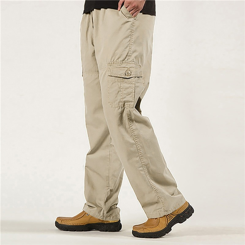 Side Zipper Pockets Cargo Harem Joggers Pants Men 2021 Tactical Casual Harajuku Streetwear Sweatpant Trousers Male Pants 6XL