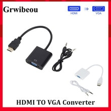 Grwibeou HDMI to VGA Adapter Cable Male To Female HDMI TO VGA Converter Adapter 1080P Digital to Ana