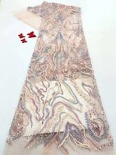 2020 luxe fait à la main perles/paillettes dentelle tissu meilleure qualité dentelle pour les femmes robe broderie français Tulle dentelle appliques tissus