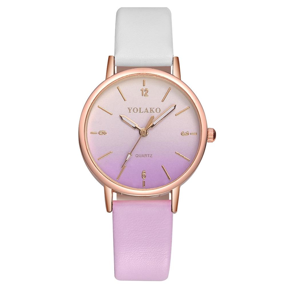 Susenstone Women's Casual Quartz Leather Band New Strap Watch Analog Wrist Watch Wristwatch Clock Gi