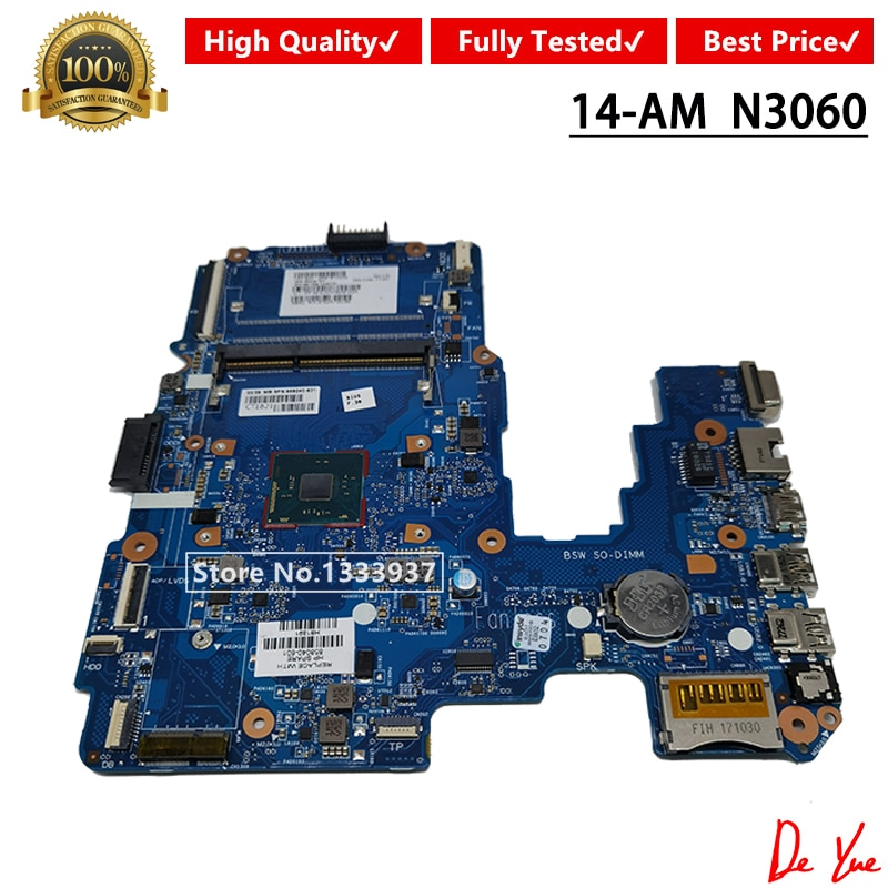 858040-501 858040-001 858040-601 Laptop motherboard Para HP Pavilion 14-AM Mainboard SR2KN N3060 6050A2823301-MB-A01 DDR3
