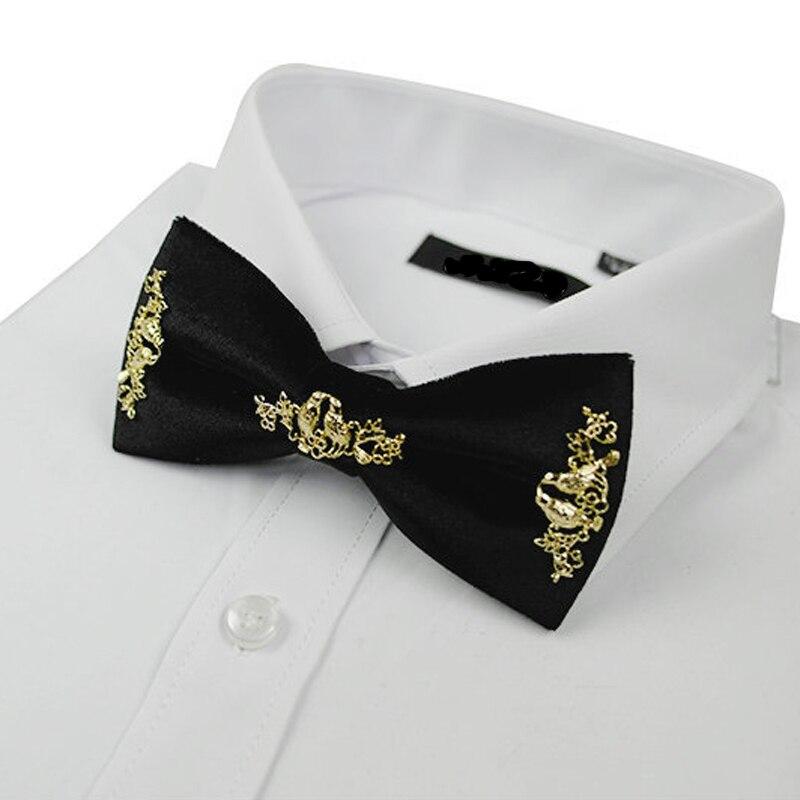 Wedding Bow Tie Trendy Men's Groom Suit Accessories High-grade Luxury Exquisite Flower and Bird Inlay Business Bowtie Gifts