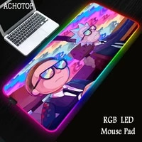 anime morty rgb mouse pad large gaming xxl computer anime pad led big mat keyboard desk pc mause with backlit