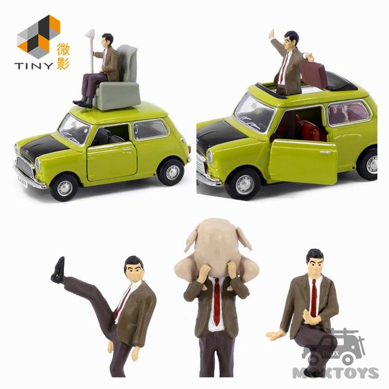 pequeno carro de modelo sr feijao 150 com figura e sofa figura conjunto