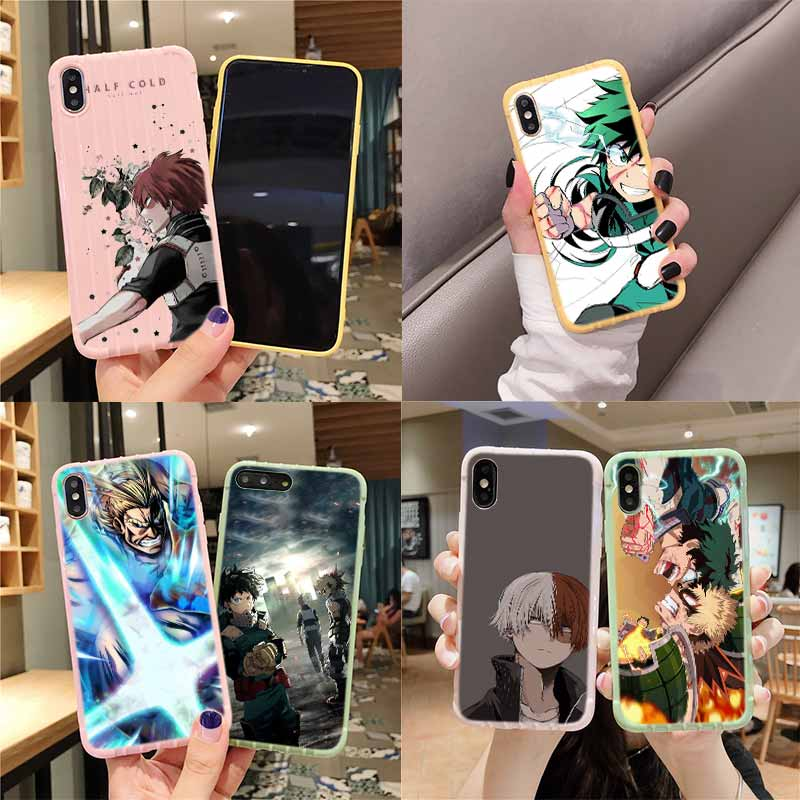 Meu boku nenhum herói academia todoroki shouto trole mala textura caso do telefone para iphone 11 pro max x xs max 8 7 6s plus