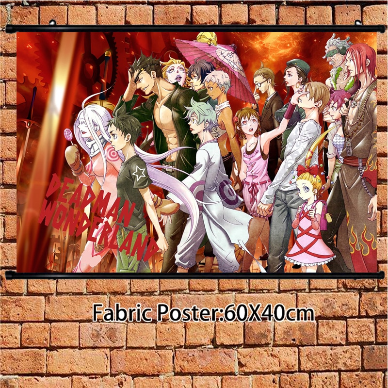 Cartel de Anime Deadman Wonderland Shiro Igarashi Ganta, rollo de pared, pintura, impresiones artísticas, decoración de habitación del hogar 60*40