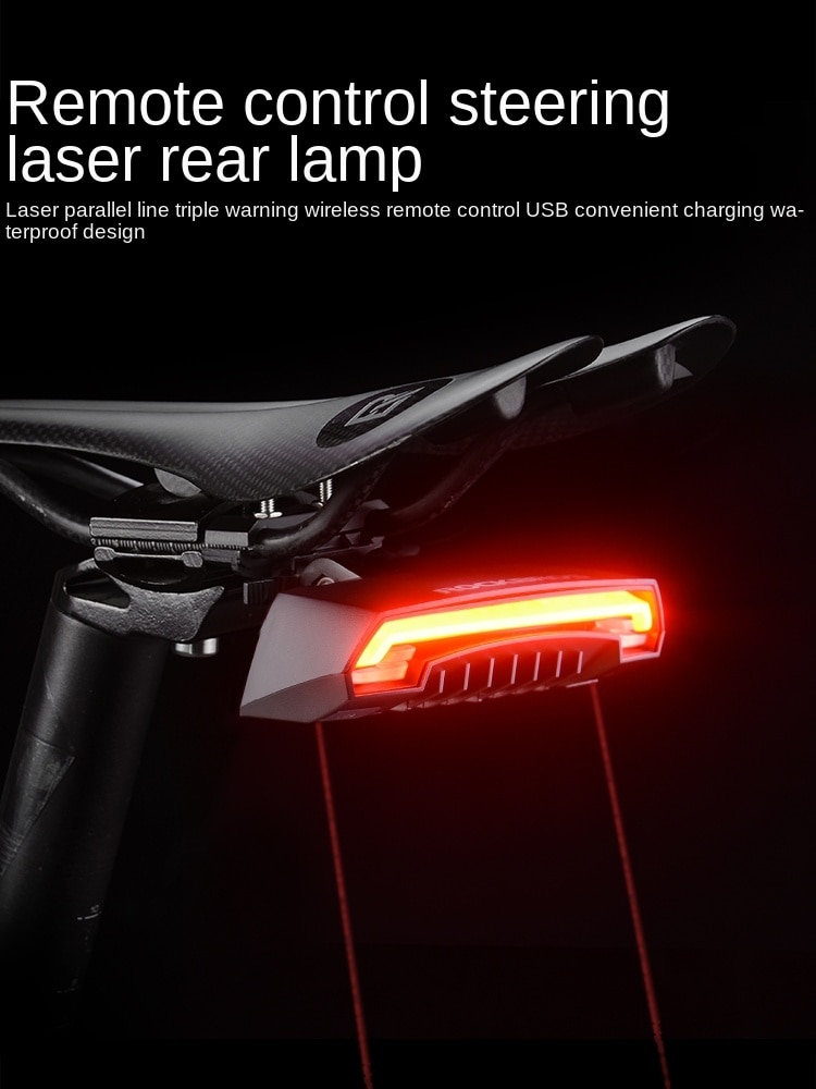 Intelligent Remote Control Bicycle Light Riding Laser Taillight Turn Signal Mountain Led Warning Light Accessories