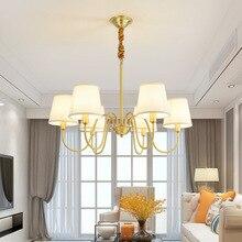 North European American Simple Creative Modern Pendant Lights Luxury Living Loom Bedroom Dining Room Copper Hanging Lamp