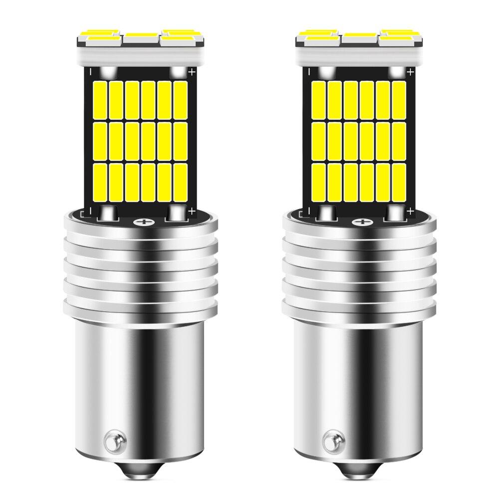 2 uds BA15S P21W 1156 Luz de marcha atrás LED Bombilla para...