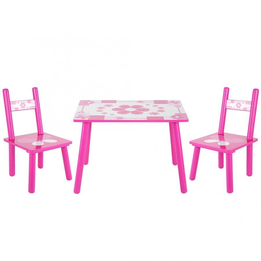 Juego de mesa y silla de madera para niños, juego de sillas para niños que están aprendiendo a pintar en casa, cocina, sala de desayuno