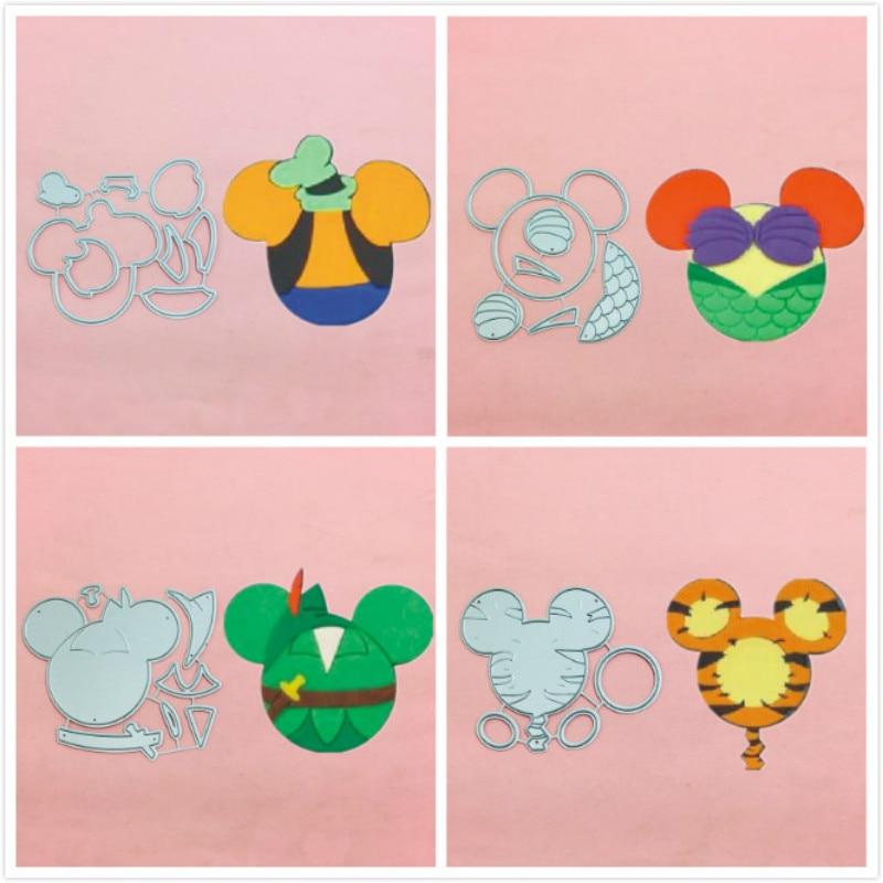 Mickey minnie sereia arco corte de metal morre estênceis para scrapbooking carimbo/álbum de fotos decorativo gravando cartões de papel diy