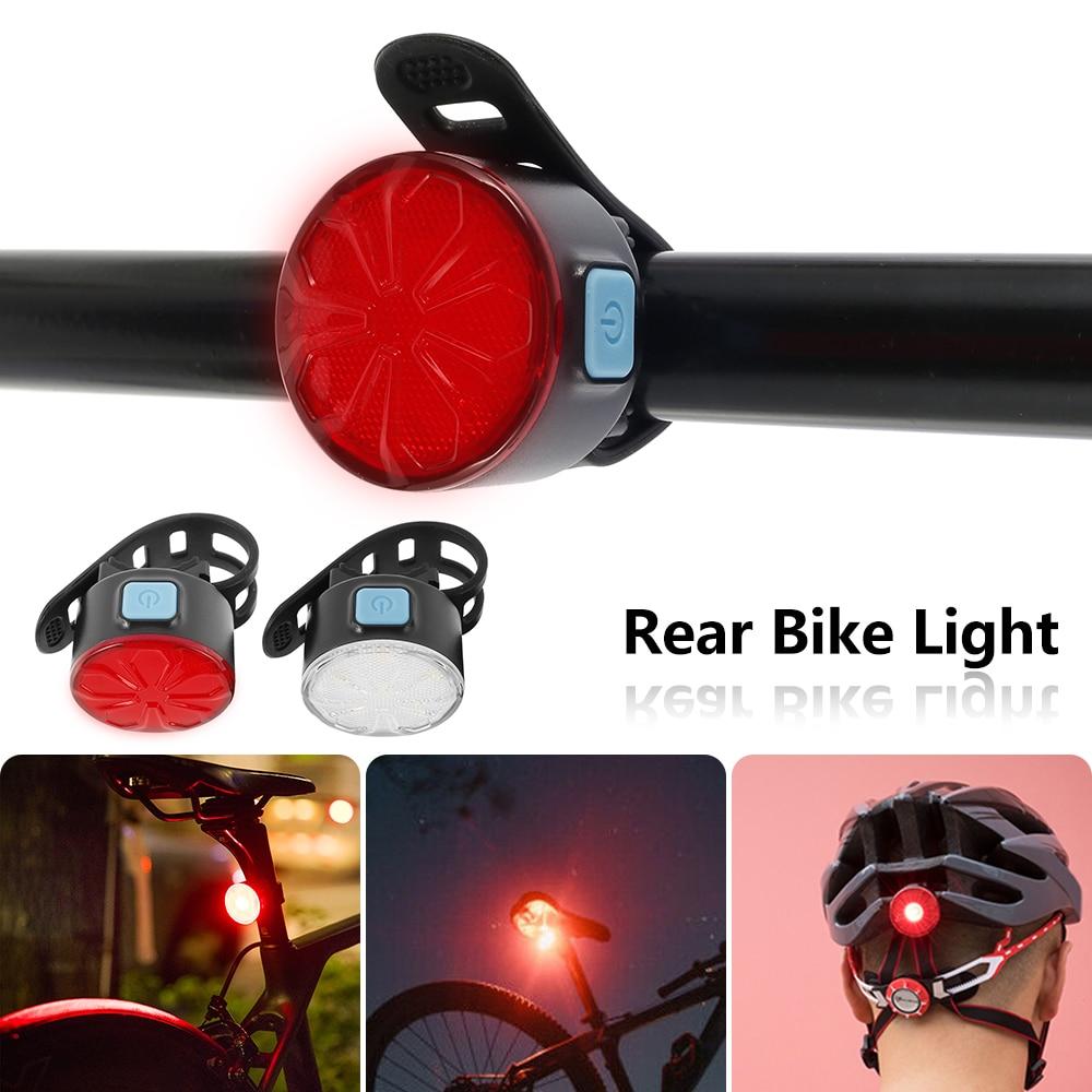 Luz LED trasera parpadeante Para Bicicleta, resistente al agua, accesorios de luz...