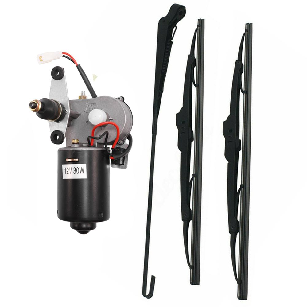 UTV limpiaparabrisas eléctricos y Kit de motor de cuchillas de limpiaparabrisas para Polaris Ranger RZR 900 Can Am Honda