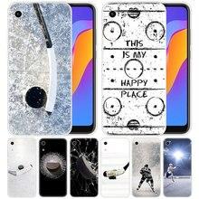 Funda de silicona de lujo para pista de Hockey sobre hielo para Huawei Honor 9X 8A 7A 20 Pro 7X8X7 S 8S 8 9 10 Lite 20 20i 10i jugar de la cubierta a la moda de la