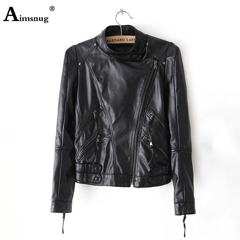 Женская кожаная куртка большого размера 3xl 2020, черная потертая короткая куртка из искусственной кожи, приталенная Женская куртка на молнии ...