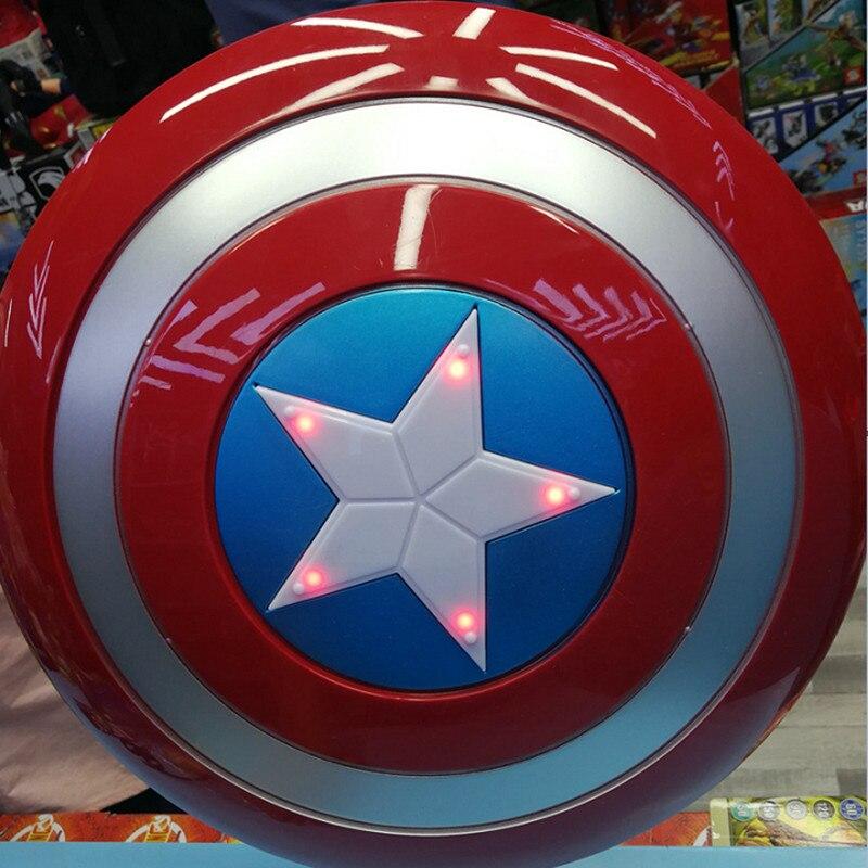 Disney Marvel 30 см Мстители 4 Капитан Америка щит дети косплей игрушки звук и светящиеся эффекты Коллекционная модель игрушки для мальчика