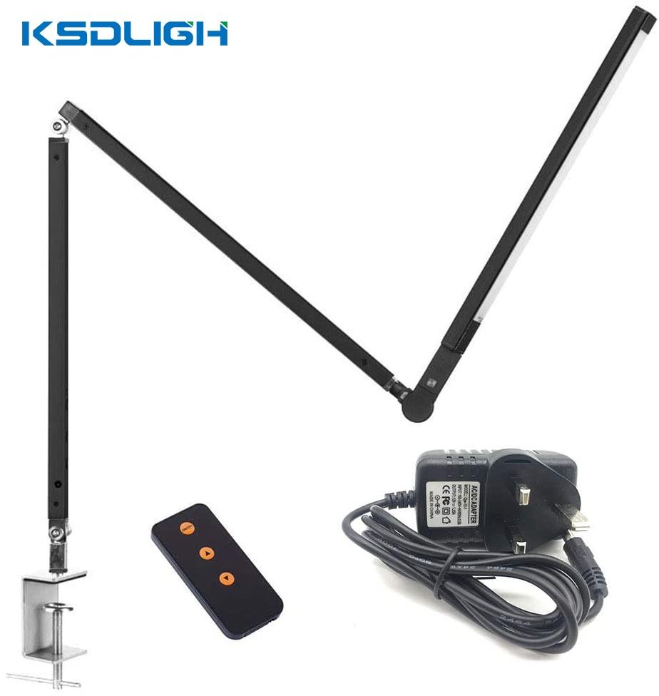 luminaria dobravel com braco longo e 3 intensidades ajustavel luminaria de mesa ideal