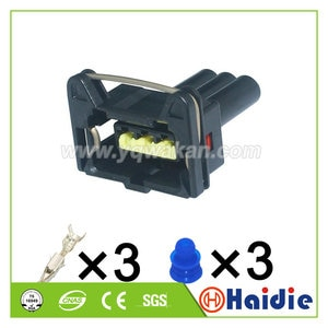 Free shipping 5sets 3pin TE Auto Accessories Housing Plug Waterproof Wiring Harness Connector 85205-1