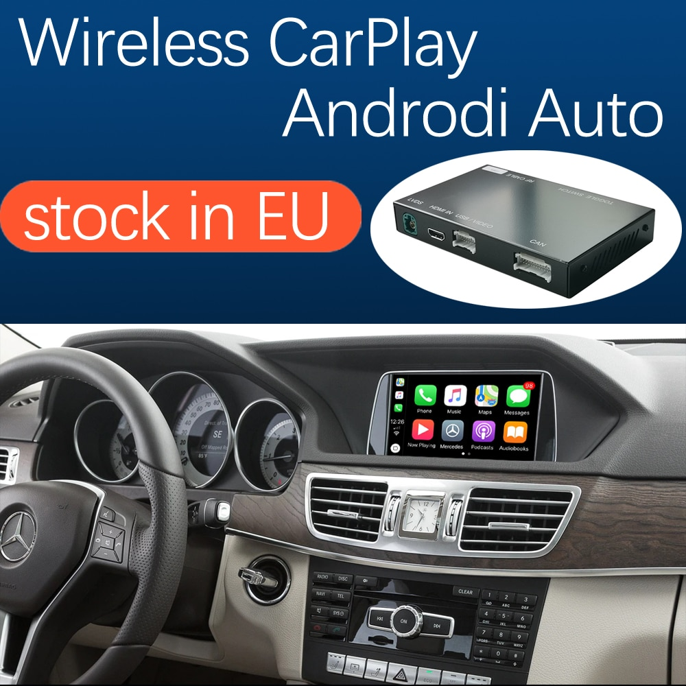Apple CarPlay inalámbrico con interfaz para coche Android para Mercedes Benz A B C E Class W176 W246 CLA GLA W204 W212 C207 CLS ML GL GLK SLK