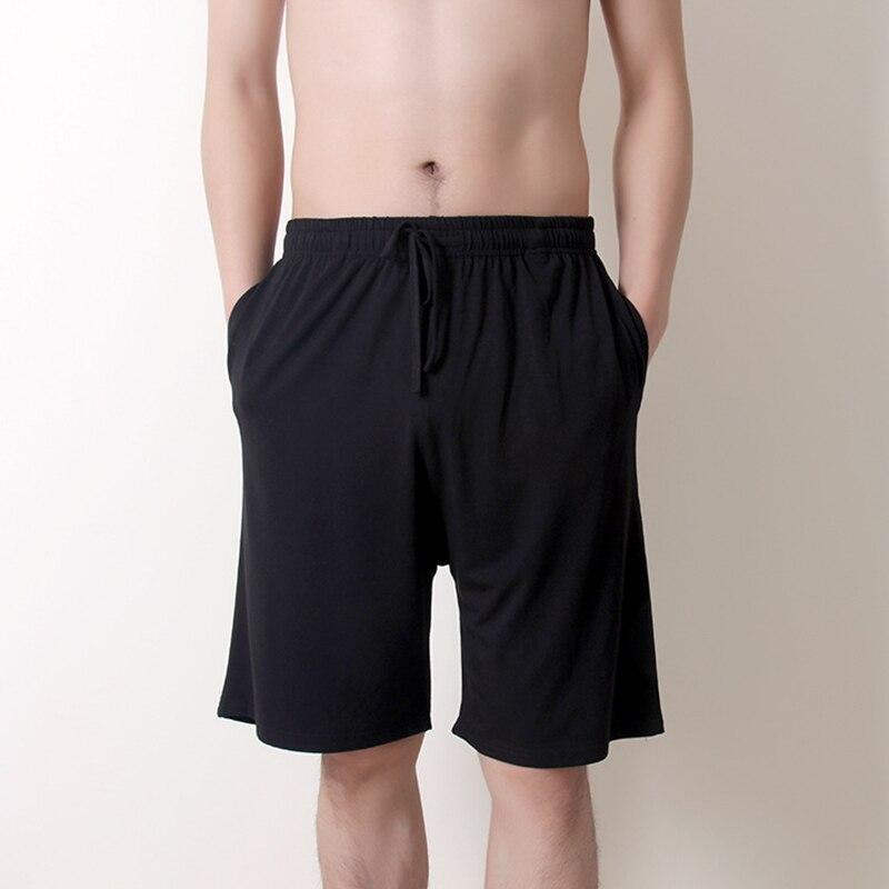 Мужчины% 27 Хлопок Сна Низ Повседневный Однотонный Удобный Боксеры Шорты Нижнее белье Мужское Плюс Размер 6XL Домашняя одежда Пижамы Пижамы Брюки