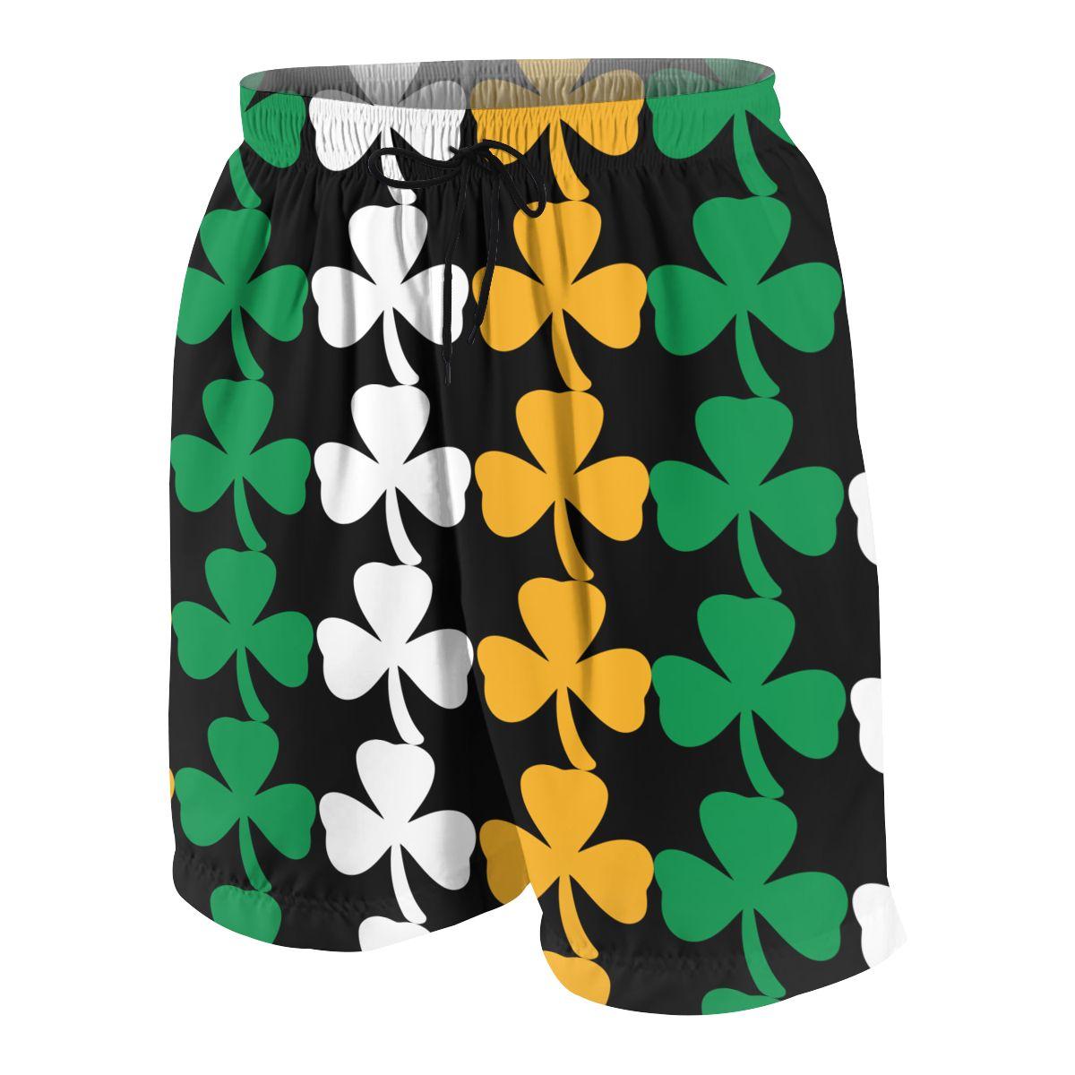 Ireland Shamrock Flag Teenagers Comfortable Fashion Fitness Joggers Quick-dry Cool Short Sweatpants